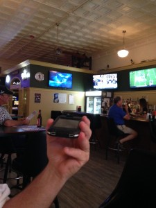 No Longhorn Network up in Montana. Mike listened to the game on his phone while we were at the sports bar.