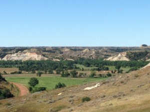 The public golf course in Medora is called the Bully Pulpit. There were several golf tournaments taking place during our stay, so unfortunately Mike only got to hit balls from the practice range. No tee times available for 18-holes.