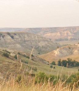 A view of the badlands as sunset approached.
