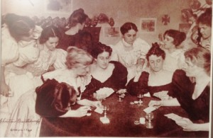 This photo from the museum cracked me up. Ladies night at Fort Keogh.