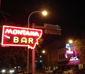 Lots of cool neon after dark in downtown Miles City.
