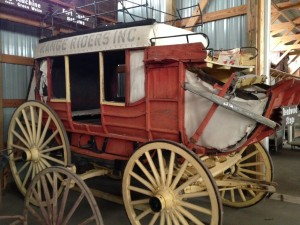 A stage coach at the Rough Riders Museum in Miles City.