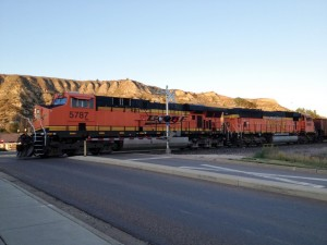 The only remaining train line that runs through Medora is the BNSF.