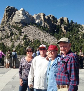 Family picture at Mount Rushmore.