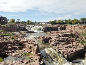 Falls Park in Sioux Falls. Very impressive.
