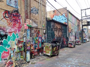 Rapid City had a downtown alley where graffiti ruled.