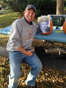 Mike, Cessna and Piper collaborated on one of the pumpkins we decorated as part of the state park's Halloween Festival which took place on the second Saturday we were there. I can't stand Donald Trump, and wanted no part of the Trumpkin... so I carved my own separate pumpkin.