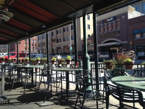 We enjoyed lunch on an outside patio in Lincoln's Historic Haymarket District.