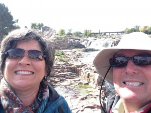 A selfie at Sioux Falls.