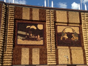 The side of the Corn Palace building.