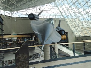 In addition to the SR-71 (which they first put into place when building the museum, and then construction the glass atrium walls around it), the facility displays a B-1, B-52, B-36, MiG-21, FB-111, Vulcan, and Apollo 009.