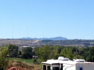Our KOA campground sat high up on a bluff, so we had a nice view of the Rapid City area.