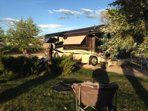 A view of our spot at the KOA in Rapid City. We were in #120.