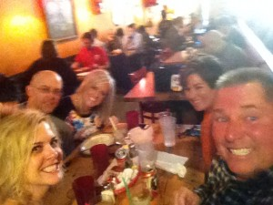 A tex-mex lunch selfie, I'm sure the blur has nothing at all to do with the number of margaritas consumed at the table!