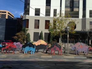 Public art in downtown Denver's 16th Street Mall.