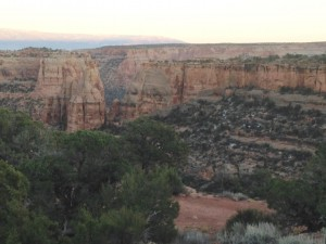 Colorado National Monument just before sunset.