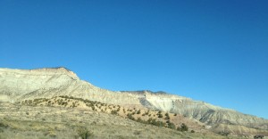 The changing colors of the rocks in the mountains made the drive so pretty!