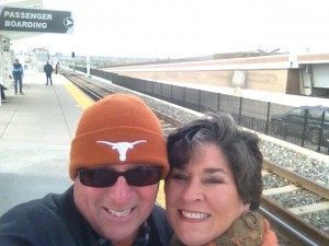 Selfie at Nine Mile Station. Heading into downtown for lunch with the gang.