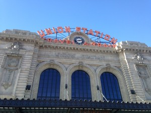 Union Station in downtown Denver was recently completely renovated. Now, in addition to a train, bus and light rail station, it houses restaurants, shops, bars and a hotel!
