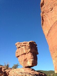 Balanced Rock in Garden of the Gods Park.