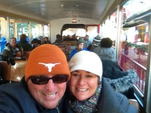 A selfie on the COG Railway - waiting to depart the station.