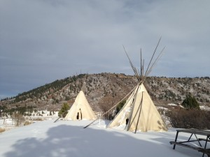 Our campground had three authentic tee pees guests could rent for camping.