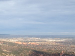 One of the views from the top of the incline. Our campground is somewhere there in the near distance.