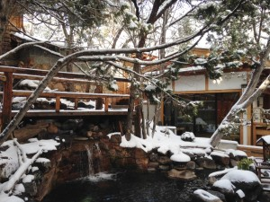 The spa at Ten Thousand Waves was glorious, and I think the snow made the setting that much more spectacular.