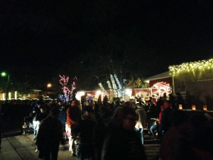 The Farolito Walk along Canyon Road on Christmas Eve is a Santa Fe tradition. Its a big deal!