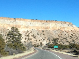 The road out of Bandelier.