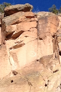 Can you spot the petroglyph on the side of the rock? Ancient Indian graffiti.