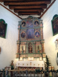 The beautiful altar inside the San Miguel Chapel.