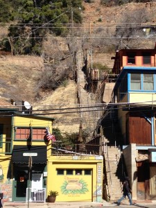 Bisbee is quite literally a vertical town. To get from one street to the next, you must climb steps. Many steps.