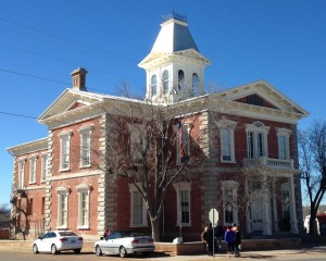 The historic courthouse in Tombstone.