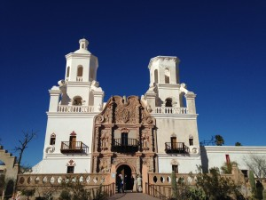 Mission San Xavier del Bac was constructed between 1783 and 1797. It is widely considered to be the finest example of Spanish Colonial architecture in the United States and hosts approximately 200,000 visitors each year.