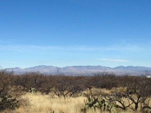 A view of the Dragoon Mountains from our campground. Sounds scary to me.
