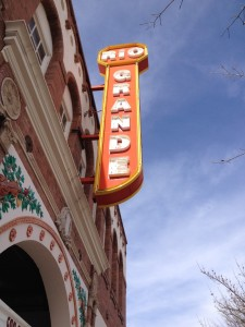 Downtown Las Cruces had many pretty restored buildings like the Rio Grande Theater.