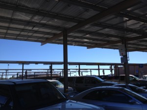 I've never seen so many solar panels as we did in New Mexico. This Walmart parking lot had all of its spaces covered. Shade for the customers and power for the building. I like it!