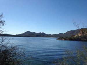Saguaro Lake outside of Mesa, Arizona.