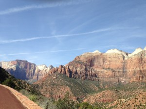 A view from our scenic drive on Zion - Mount Carmel Highway.