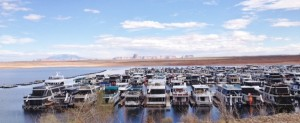 The marina at Lake Powell Resorts and Campground was enormous. This picture only shows about half of the entire thing.
