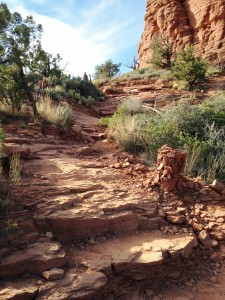 Sedona is famous for its vortexes. The area has long been known as a spiritual power center containing subtle energy. I visited the Boynton Canyon Vortex during our Cottonwood stay. This is the trail to the knoll where the energy is strongest.
