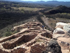 Tuzigoot National Monument was within walking distance of our campground. It is a two to three story Pueblo Ruin built up on a ridge above the Verde River. They say it was a community for over 400 years, which is twice as long as the United States has been a country!
