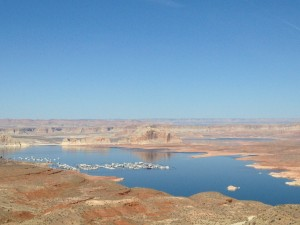 A view of Lake Powell's Wahweap Bay.