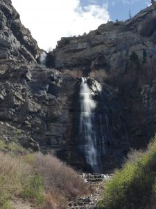 Bridal Veil Falls in Provo Canyon.