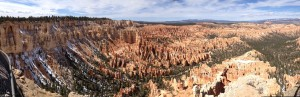 The last panorama shot from Bryce Canyon.
