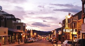 Park City Main Street Sunset.