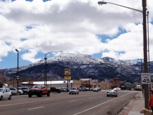 "The locals called our town ""Cedar"", and there was a pretty view of snow capped mountains in every direction we looked."