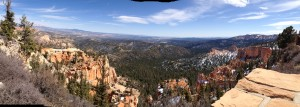 A panorama from Rainbow Point.