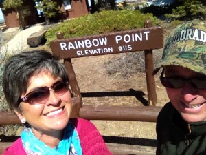 Rainbow Point selfie.
